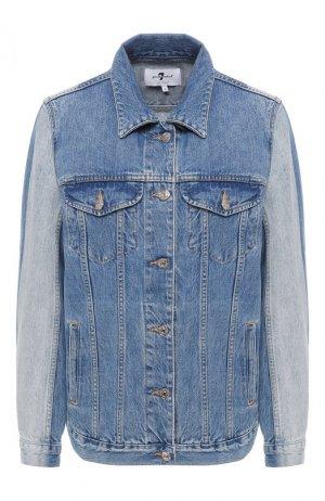 Джинсовая куртка 7 For All Mankind. Цвет: голубой
