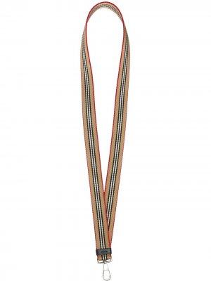 Брелок в полоску Icon Stripe Burberry. Цвет: нейтральные цвета