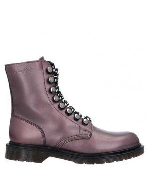 Полусапоги и высокие ботинки LE DANGEROUGE. Цвет: фиолетовый