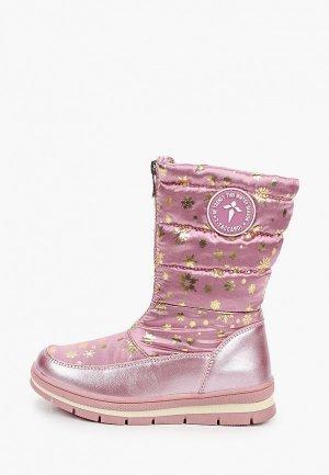 Дутики T.Taccardi. Цвет: розовый