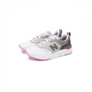 Комбинированные кроссовки 997H New Balance. Цвет: белый