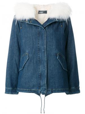 Джинсовая куртка Army Yves Salomon. Цвет: синий