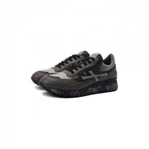 Комбинированные кроссовки Django Premiata. Цвет: серый