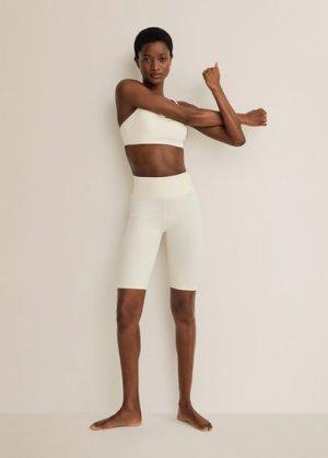 Спортивные шорты - Claudi Mango. Цвет: экрю