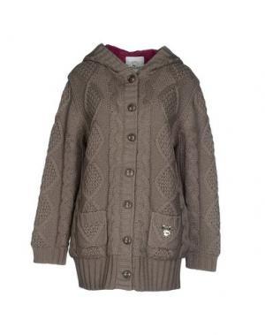 Куртка MAISON ESPIN. Цвет: голубиный серый