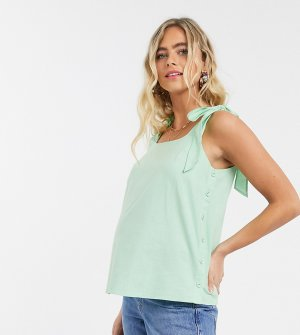 Топ с бретельками-завязками -Зеленый Fashion Union Maternity
