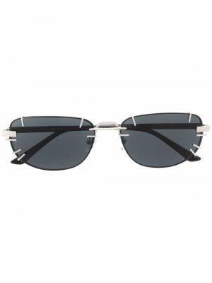 Солнцезащитные очки из коллаборации с Y Project Linda Farrow. Цвет: серебристый