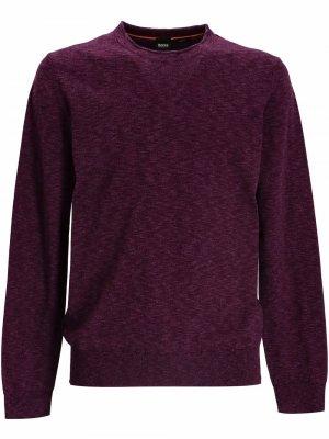Пуловер с круглым вырезом BOSS. Цвет: фиолетовый