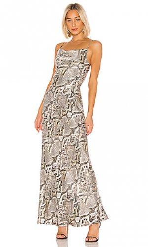 Платье-комбинация arianne LAGENCE L'AGENCE. Цвет: серый