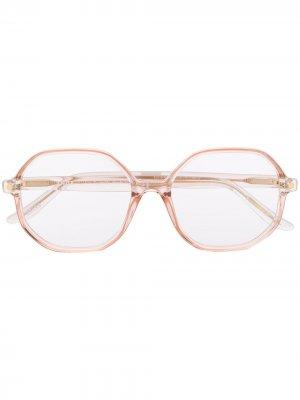 Очки Miuccia в массивной оправе Snob. Цвет: розовый