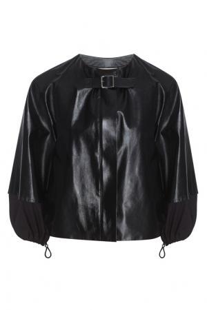 Кожаная куртка Celine. Цвет: черный