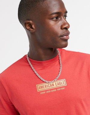 Красная футболка с логотипом на груди -Красный American Eagle