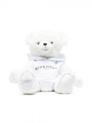 Мягкая игрушка медведь с вышитым логотипом Givenchy Kids. Цвет: белый