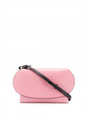 Сумка через плечо Mini Pillow Smythson. Цвет: розовый