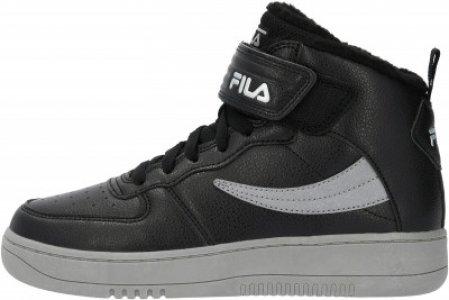 Кеды утепленные для мальчиков Fil High Fur, размер 36 FILA. Цвет: черный
