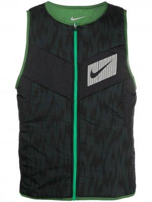 Двусторонний жилет Nike. Цвет: черный