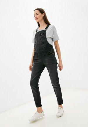Комбинезон джинсовый Mama's fantasy. Цвет: черный