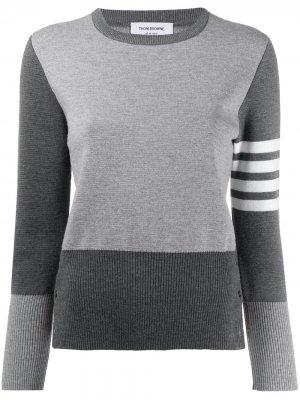 Пуловер Fun Mix с полосками 4-Bar Thom Browne. Цвет: серый
