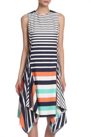 Платье IQDRESS. Цвет: синий, белый, розовый