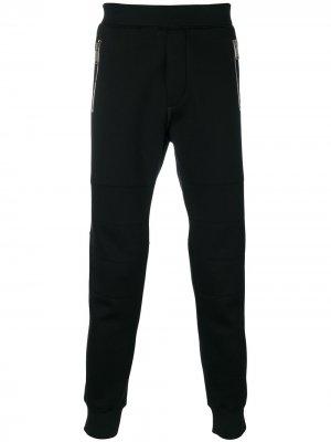 Классические брюки скинни Dsquared2. Цвет: черный