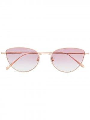 Солнцезащитные очки в оправе кошачий глаз Matsuda. Цвет: золотистый
