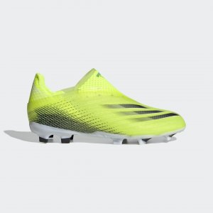 Футбольные бутсы X Ghosted+ Laceless FG Performance adidas. Цвет: черный