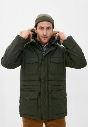 Куртка утепленная Barbour. Цвет: зеленый