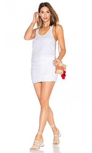 Мини платье со сборками Michael Stars. Цвет: светло-серый