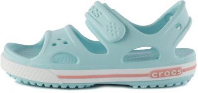 Сандалии для девочек Crocband II, размер 23 Crocs. Цвет: голубой