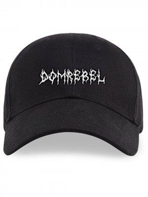 Бейсбольная кепка с логотипом DOMREBEL. Цвет: черный