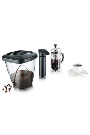 Вакуумный контейнер для кофе TOMORROWS KITCHEN TOMORROW'S. Цвет: черный