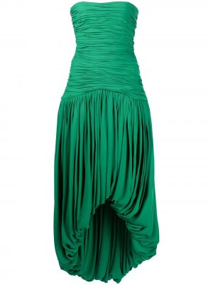 Shivani strapless dress KHAITE. Цвет: зеленый