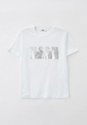 Футболка MSGM Kids. Цвет: белый