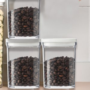 1шт прозрачный контейнер для пищевых продуктов SHEIN. Цвет: белый