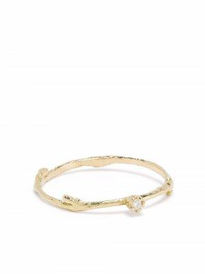 Кольцо Fine Twig из желтого золота с бриллиантами Alex Monroe. Цвет: золотистый