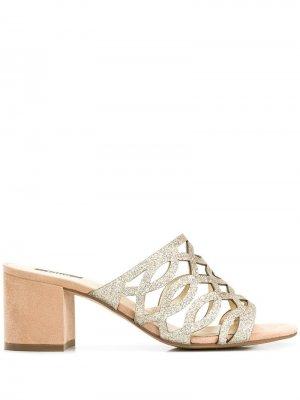 Босоножки на массивном каблуке Steffen Schraut. Цвет: золотистый