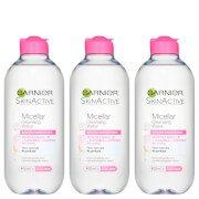 Мицеллярная вода для чувствительной кожи Micellar Water Sensitive Skin 400 мл (3 шт. в наборе) Garnier