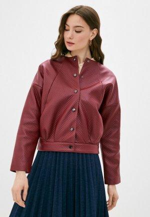 Куртка кожаная Vittoria Vicci. Цвет: бордовый