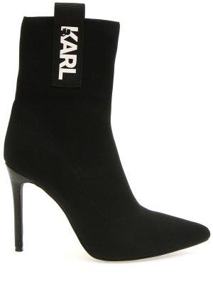 Текстильные полусапоги Karl Lagerfeld. Цвет: черный