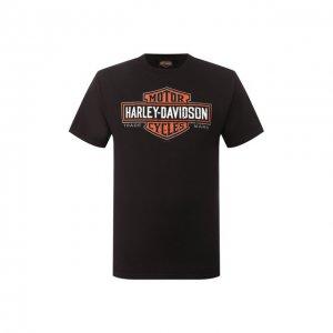 Хлопковая футболка Exclusive for Moscow Harley-Davidson. Цвет: чёрный