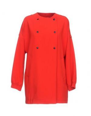 Легкое пальто MANUELA CONTI. Цвет: красный