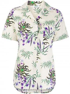 Рубашка с цветочным принтом Kenzo. Цвет: нейтральные цвета