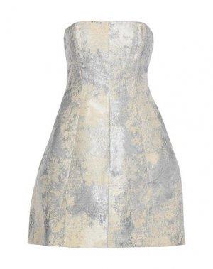 Короткое платье HALSTON. Цвет: серебристый