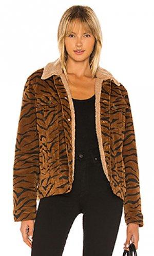 Джинсовая куртка wild woman MINKPINK. Цвет: коричневый
