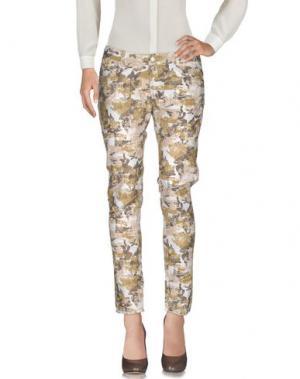 Повседневные брюки PAOLO PECORA. Цвет: бежевый
