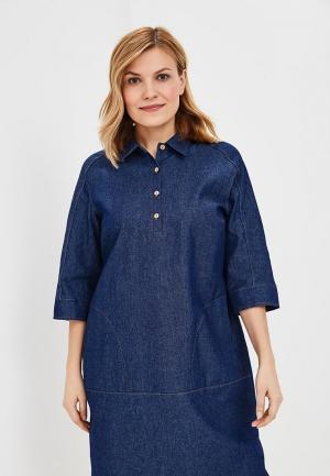 Платье джинсовое Olsi. Цвет: синий