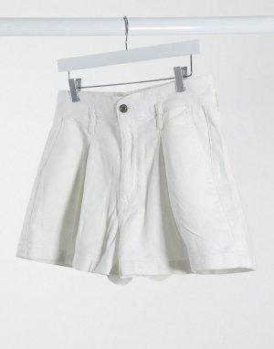 Белые шорты в винтажном стиле с завышенной талией -Белый American Eagle