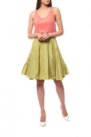 Юбка Alaia. Цвет: оливковый