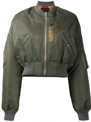 Двухсторонняя куртка-бомбер R13. Цвет: зелёный