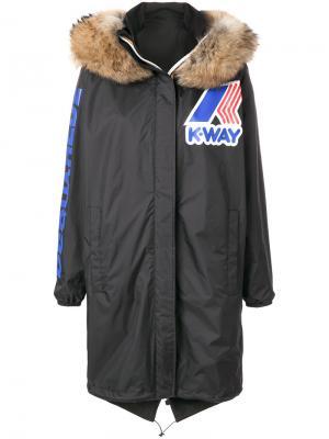 Пальто-ветровка DSQUARED2 x K-Way. Цвет: чёрный